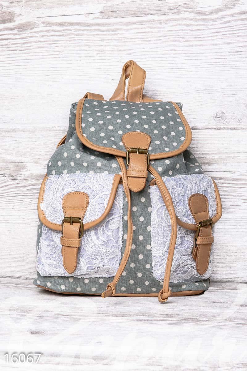 Рюкзак Gepur в горошек