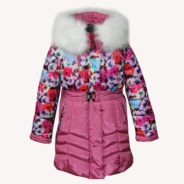 Пальто для девочки Disvey Фиалка (Беларусь) розовый