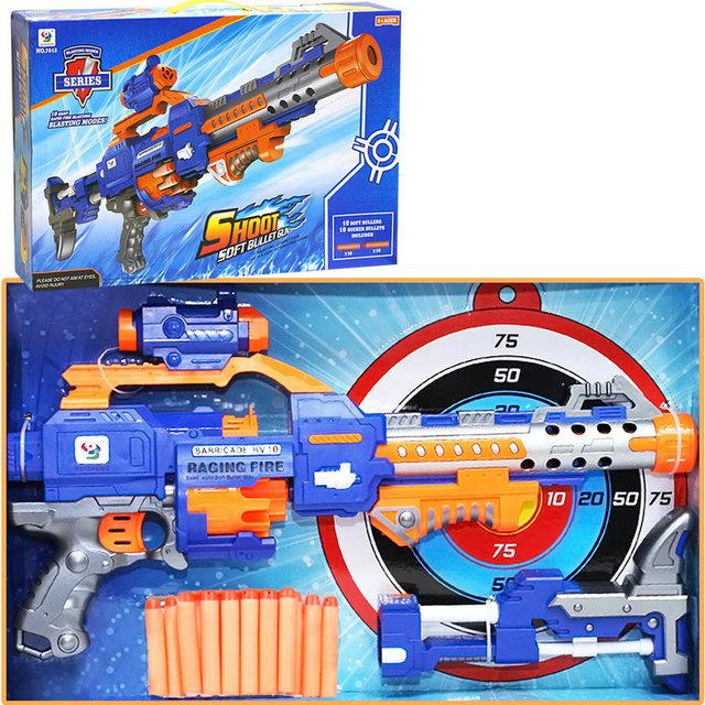 Бластер оружие механический с пулями в коробке 55х9х34см