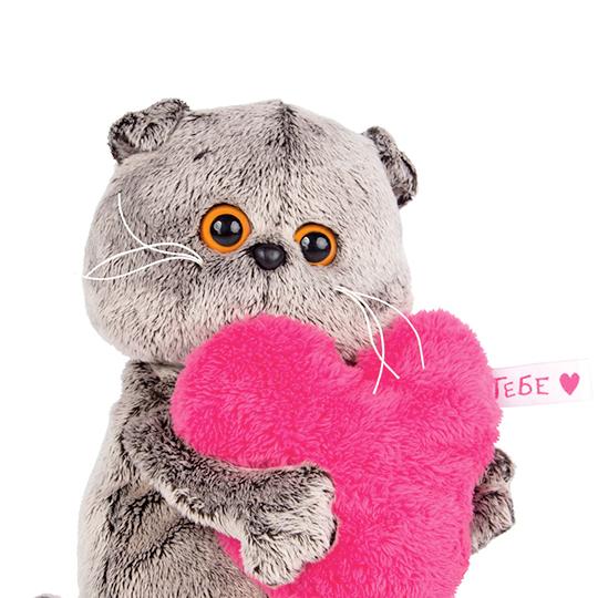 Басик с розовым сердцем