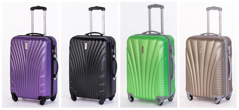 Чемоданы дорожные пластиковые мужские чемоданы