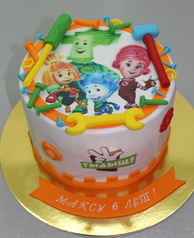 Картинки с фиксиками с днем рождения для торта