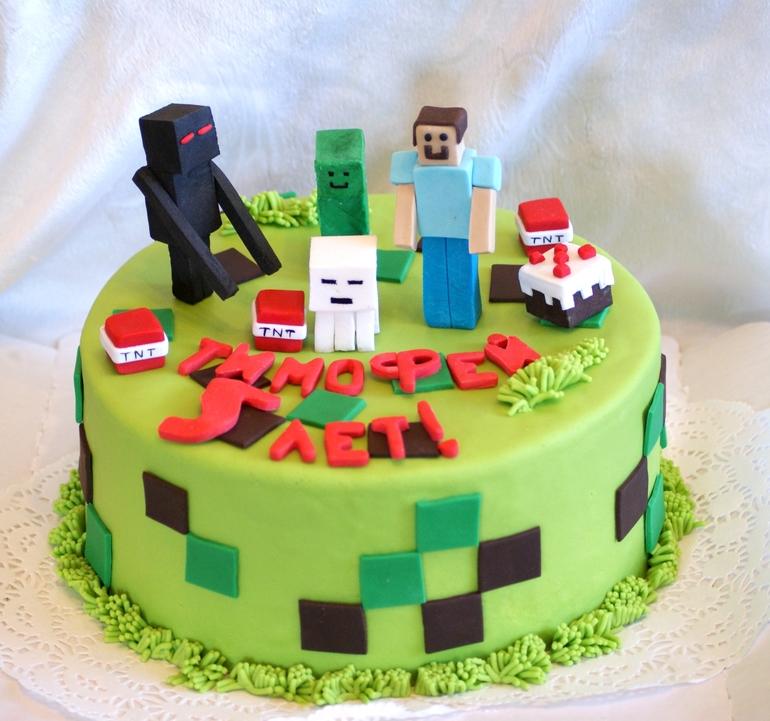 картинки торты майнкрафт