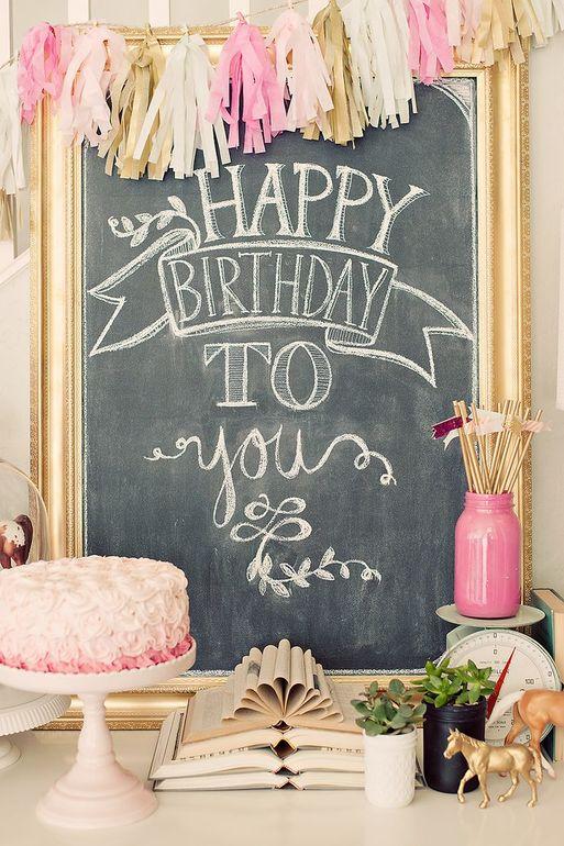Поздравление стильная картинка, днем рождения