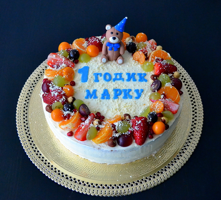 Двухъярусный торт своими руками на день рождения 14