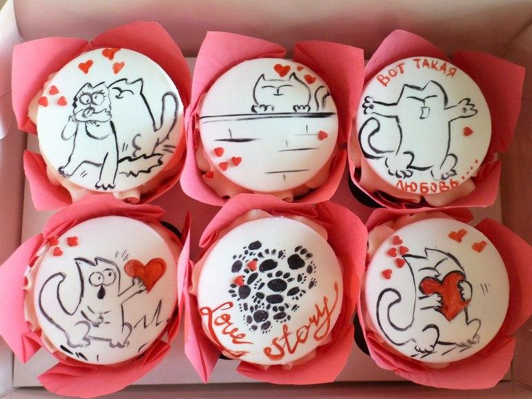 Картинки с котом саймоном на капкейки