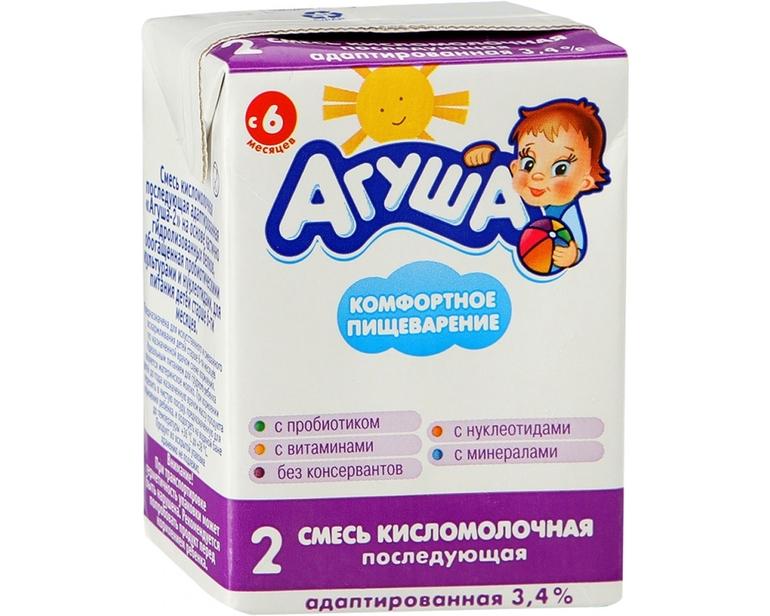 Кисломолочные продукты агуша