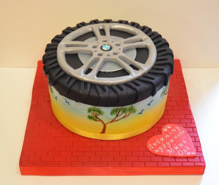торт колесо bmw