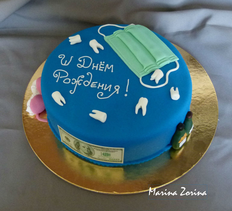 Торт для стоматолога из мастики фото