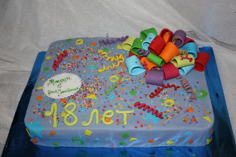Торт на 18 лет сыну с фото