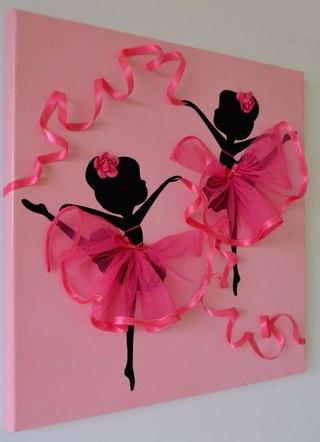 Картина балерины своими руками