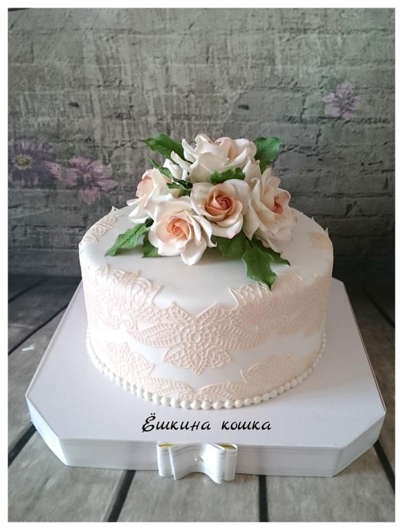 Свадебные торты небольшие фото