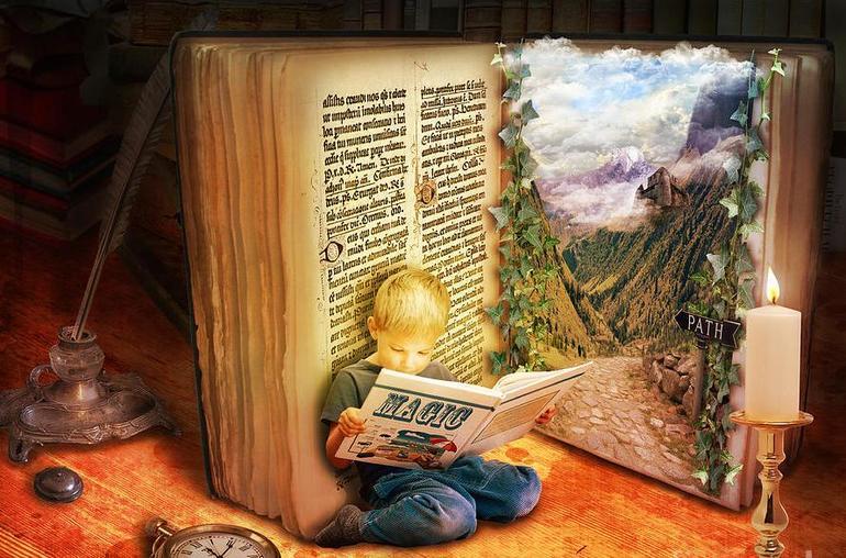 Поздравительные, картинка анимашка книга сказок